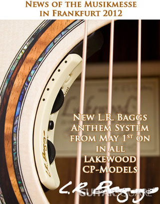 Lakewood郑成河签名款原声吉他配置L.R.Baggs Anthem拾音器